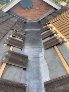 Aldridge Roofing - Lead gully example